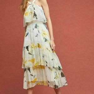 New $240 Anthropologie Garden Party Dress Tiered H
